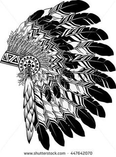 stock-vector-native-american-indian-chief-headdress-447642070.jpg (345×470)