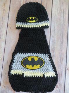 BATMAN Hat and Cape PHOTO PROP set, baby shower gift, newborn photo props, baby boy, super hero, batman hat, preemie, newborn, 0-3 months by kimcrochetcreations on Etsy