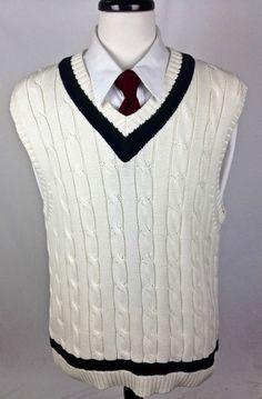Ralph Lauren Sweater Cotton Navy Blue V Neck Luxury Sleeveless ...