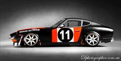 very cool RC kit, love the paint different but cool. 240z Datsun, Datsun Car, Nissan Z Cars, Jdm Cars, Rc Drift Cars, Classic Japanese Cars, Rc Cars And Trucks, Japan Cars, Sweet Cars