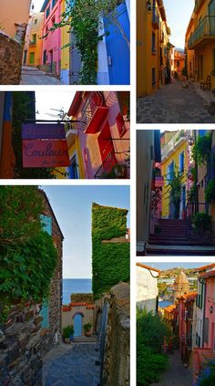 Collioure (Languedoc-Rosellón), a very colorful, quaint town in southern France Places Around The World, Oh The Places You'll Go, Places To Visit, Around The Worlds, Wonderful Places, Beautiful Places, San Sebastian Spain, Destinations, Barcelona
