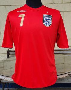 ENGLAND 2006 FIFA WORLD CUP QUARTER FINALS BECKHAM JERSEY UMBRO SHIRT MEDIUM Vintage Jerseys, Fifa World Cup, Football Jerseys, Jersey Shirt, Beckham, Finals, England, Medium, Classic