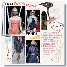 Fendi Spring 2016 Hairs - Faux Bobs