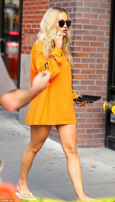 Sizzling!Rita Ora lived up to Tyra's famous 'fierce' catchphrase, as she stepped out in New York on Sunday