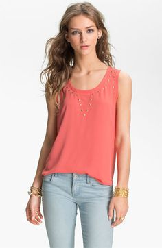 Chloe K Studded Tank (Juniors) available at Nordstrom