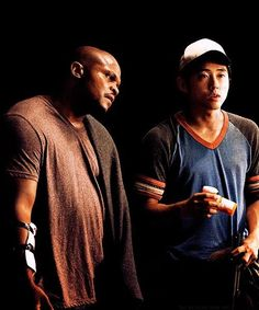T-dog and Glenn;  Season 2 TheWalkingDead