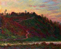 Клод Моне - The Village of La Roche-Blond, Sunset, 1889. Клод Оскар Моне