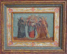 """""""Virgen de Chiquinquirá"""" colonial venezolano siglo XIX, oleo/tabla, med: 29X23 cms."""