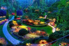 Jardines Butchart ,Canadá.