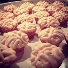 Brain cupcakes for halloween