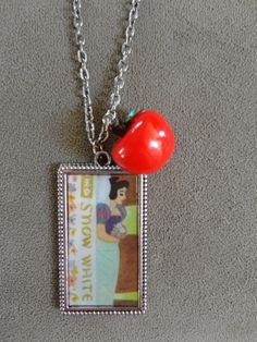 Rare Vintage 1952 Disney Snow White Pendant  by TicketTrinkets, $40.00