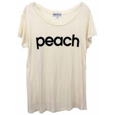 Wildfox Peach Hippie Crewneck Tee in Dirty White ($79) ❤ liked on Polyvore