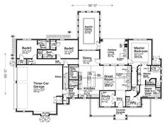 1st Floor Plan, 002H-0133