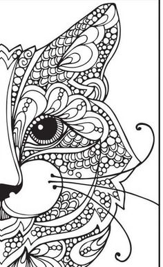 Mandalas have a powerful healing ability especially for emotional diseases Mandala Doodle, Mandala Drawing, Doodle Art, Zen Doodle, Cat Coloring Page, Animal Coloring Pages, Coloring Book Pages, Mandala Design, African Art Paintings