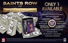 saints row IV edition super dangerous wad wad, 1 million dollars collector !!