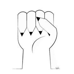 Dessin de soutien de Qui Be (site clique.tv) #JeSuisCharlie