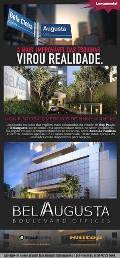 ESSER BelAugusta. Conjuntos comerciais de 33 a 431m² na Rua Augusta. Excelente investimento. Lançamento na planta.