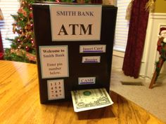 Great way to give cash as a gift.   The receiver of this gift loved it.  There are 20 $1 bills rolled up inside the box and taped together end to end.  Once you start pulling the first $ it won't stop until the 20th dollar.  Cute and fun!
