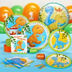 Little Dino 1st Birthday Standard Party Pack