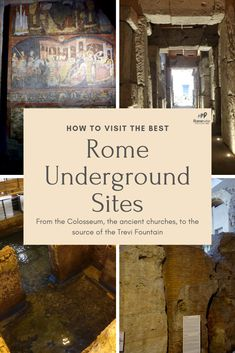 How to visit the best Rome Underground sites - from the Colosseum, to ancient churches, to the catacombs, and much more! Italy Travel Tips, Rome Travel, Travel Europe, Rome Italy, Verona Italy, Puglia Italy, Italy Trip, Venice Italy, Rome Catacombs