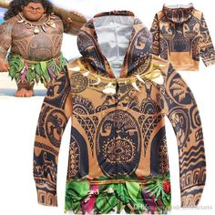 Graphic Moana and Maui Hoodies for Children Boys and Girls 3D Print Sweatshirts Cartoon Theme Costumes Kids Clothes Back to School Supplies