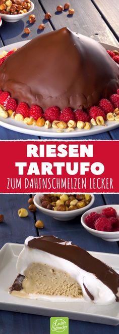 Eine köstliche Melange aus Schoko, Nüssen und Eis! #rezept #rezepte #tartufo #xxl #haselnuss #eis #schokolade
