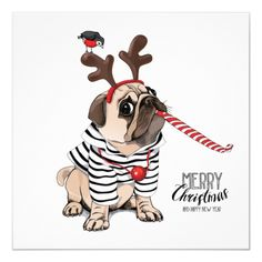 Find Christmas Card Pug Dog Striped Cardigan stock images in HD and millions of other royalty-free stock photos, illustrations and vectors in the Shutterstock collection. Thousands of new, high-quality pictures added every day. Christmas Towels, Christmas Cards, Merry Christmas Funny, Silver Christmas Decorations, Pug Art, Illustrations, Christmas Pictures, White Elephant Gifts, Reindeer