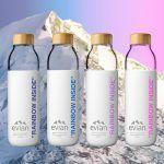 Νεο, επαναχρησιμοποιούμενο μπουκάλι από την Evian Innovation Design, Shampoo, Drinks, Bottle, Decoration, Beverages, Decorating, Flask, Deko