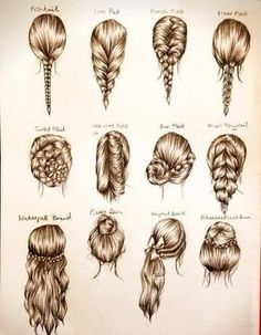 Here are some really cute hair styles. I will definitely be trying some of these soon.