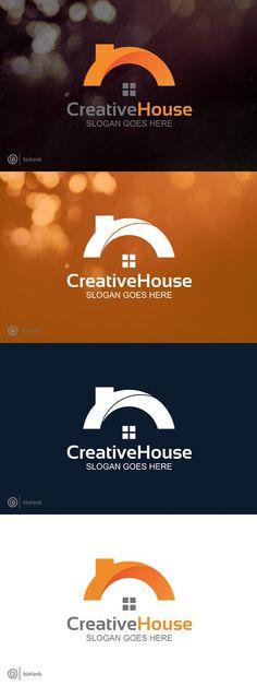 Creative House Logo Adobe Illustrator Software, Software House, Branding Process, Real Estate Logo, Home Logo, Coreldraw, Slogan, Logo Design, Creative