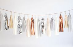 Confetti System - Tassel Garland, Neutrals. All pieces are handmade in NYC.