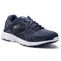 Fila® Memory Threshold 7 Men's Running Shoes, Size: 10.5, Med Blue