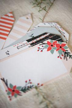 Imprimible etiquetas de Navidad y banderitas para adornar >> Free printable holiday gift tags