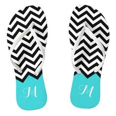 """see on 3 styles or 3 products Trendy Chevron Zigzag Monogram Stylish Aqua Green Flip Flops  This pretty """"Trendy Chevron Zigzag Monogram Stylish Aqua Green Unique Designed"""" Flip Flop is definitely a pretty gift for you or friends in this Summer Season."""