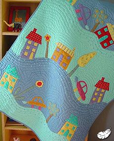 love the town and the wavy quilting