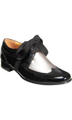 Lanvin Two-Tone Derby Shoe - Black/Silver size discovered on Fantasy Shopper Crazy Shoes, New Shoes, Shoe Boots, Shoe Bag, Shoe Boutique, Shoe Show, Derby Shoes, Shoe Closet, Loafers For Women