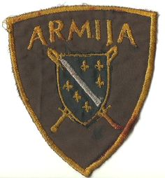 Early type Bosnian Army (ARBiH) patch worn by soldiers at the beginning of the Bosnia war (1992-1995).
