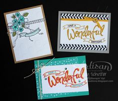 Love these cards made with the You're Wonderful stamp set.