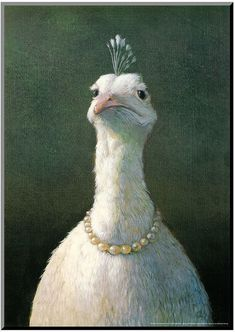 Michael Sowa Fowl with Pearls print for sale. Shop for Michael Sowa Fowl with Pearls painting and frame at discount price, ships in 24 hours. Michael Sowa, Amelie, Framed Art Prints, Poster Prints, Framed Canvas, Art Posters, Framed Wall, Art Watercolor, Kunst Poster