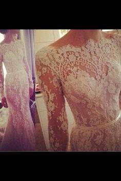 Lace wedding dress. #elegant #lace #wedding