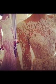 Lace wedding dress. #elegant #lace #wedding