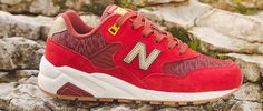 New Balance Red 580 Elite Sneaker New Balance Red, Footwear, News, Lady, Sneakers, Shoes, Collection, Fashion, Tennis Sneakers