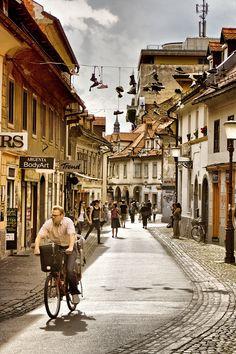 Ljubljana, Slovenia Places Around The World, Travel Around The World, Around The Worlds, Slovenia Ljubljana, Slovenia Travel, Bohinj, Lake Bled, European Tour, Vacation Spots