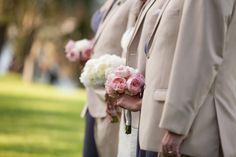 Grey Groomsmen Suits - Romantic White, Grey and Pink Davis Islands Garden Club Wedding - Tampa Wedding Photographer Jerdan Photography