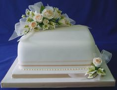 89 best One Layer Wedding Cakes images on Pinterest   Square shaped ...