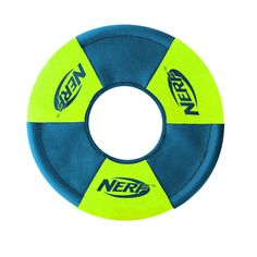 Nerf Dog Medium UltraPlush Trackshot Toss/Tug Ring Dog Toy, Green/Blue -- Want to know more, click on the image. (This is an affiliate link and I receive a commission for the sales)