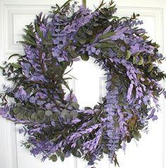 Purple Haze Eucalyptus Wreath - 24 in Maple Ridge Decor http://smile.amazon.com/dp/B0076QCIU6/ref=cm_sw_r_pi_dp_WqUSub0REAB04