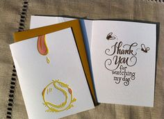 Cat + Dog Sitter Thank You Cards via PaperCrave!