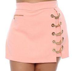 Shorts Saia Plus Size Walkiria Cute Skirts, Short Skirts, Mini Skirts, Shorts Altos, Mode Junior, Skirt Outfits, Cute Outfits, Fashion Sewing, Outfits For Teens