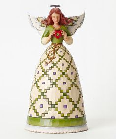 Look at this #zulilyfind! Irish Angel Figurine by Jim Shore #zulilyfinds